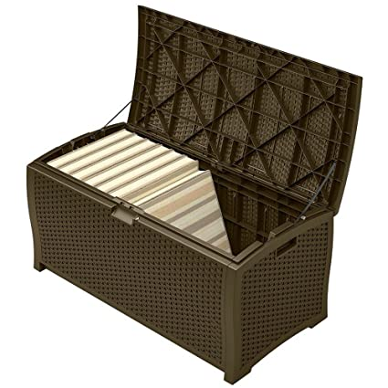 Amazoncom Patio Storage Container Waterproof Outdoor Deck Wicker