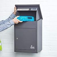 Wandmontage Smart Parcel Drop Box Donkergrijs voor Veilige Meerdere Internet Leveringen van Grote Levering Pakketten…