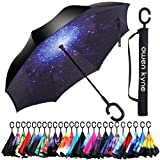 Amazon Price History for:Windproof Double Layer Folding Inverted Umbrella, Self Stand Upside-down Rain Protection Car Reverse Umbrellas with C-shaped Handle