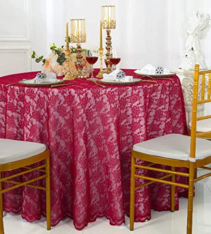 Superieur Wedding Linens Inc. 108 Inch Lace Table Overlays, Lace Tablecloths Round,  Lace Table