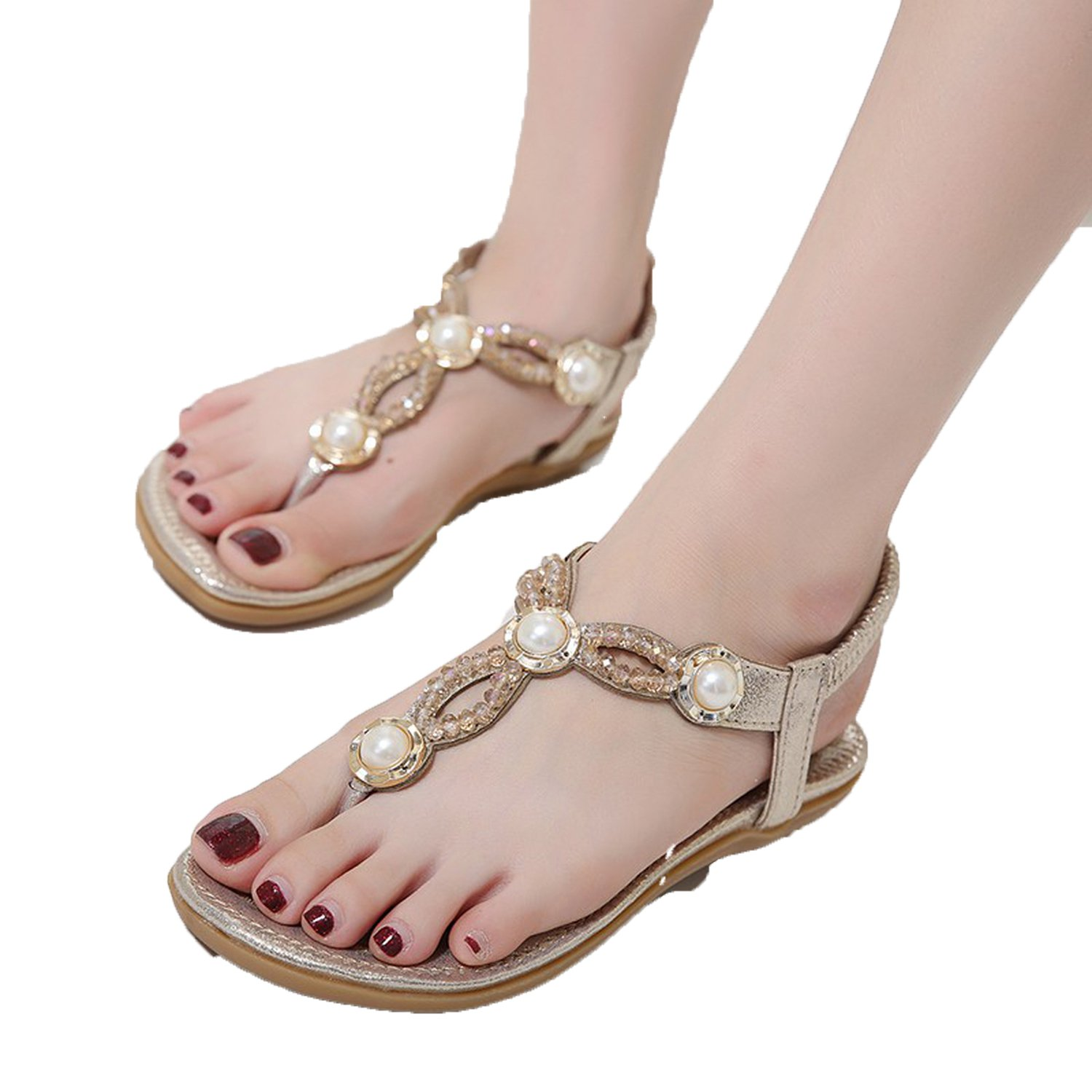 Good-memories Women Sandals Summer 2018 Shoes Woman Gladiator Bohemia Flat Casual Sandals Crystal St