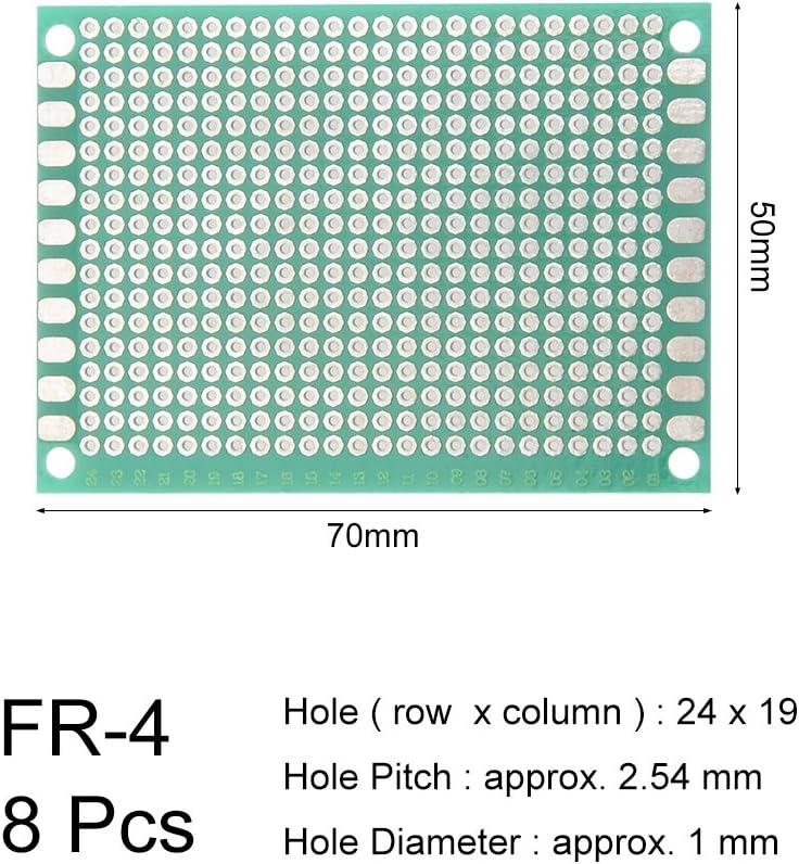 sourcing map 8 St/ück 5x7cm Einseitige Universal Leiterplatte f/ür DIY L/öten DE de