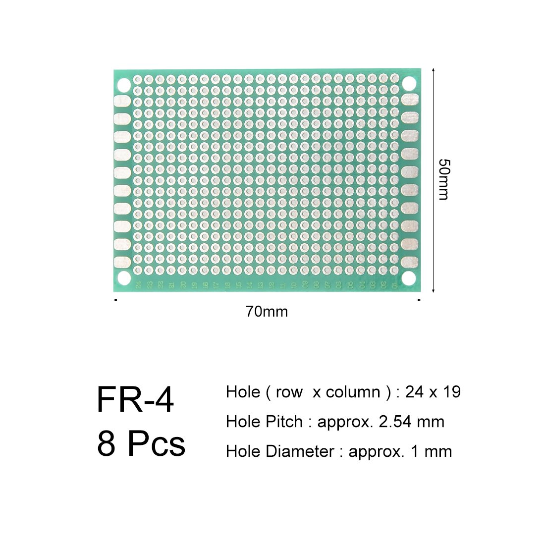 uxcell 10x15cm Single Sided Universal Printed Circuit Board for DIY Soldering 5pcs
