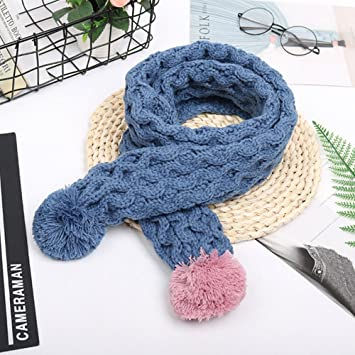 Amazon Winter Kid Plush Ball Scarf Baby Knitted Cute Scarves