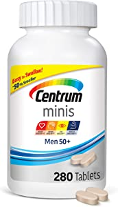 Centrum Minis Men 50+ Multivitamin/multimineral Supplement Tablets, 280 Count + 2 Free Months of obé Fitness