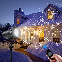 led projector lights outdoor greenclick christmas projector light with rotating snowflake snowfalling remote