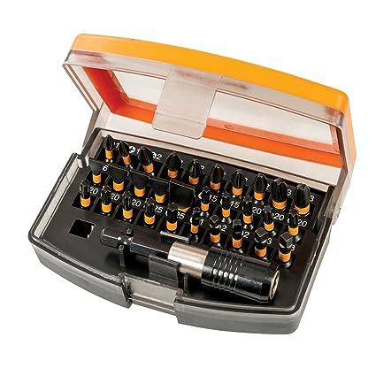 Triton TPTA59338219 Puntas para atornillador de impacto, 0 V, Naranja, Set de 31 Pieces
