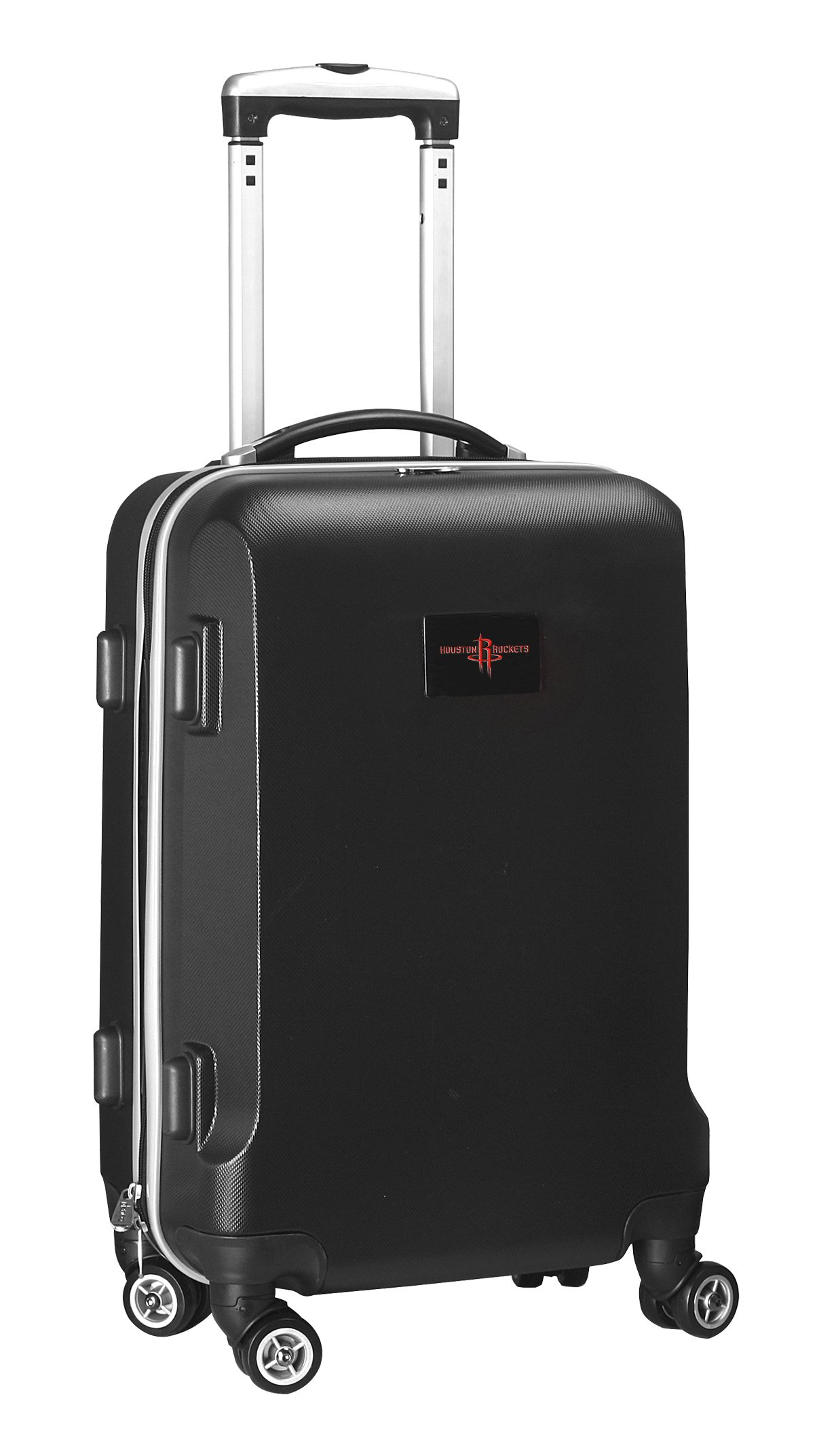 Denco NBA Houston Rockets Carry-On Hardcase Luggage Spinner, Black by Denco (Image #1)