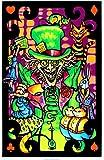 Alice in Wonderland Mad Hatter Collage Flocked Blacklight Maxi Poster Art Print - 58x86 cm
