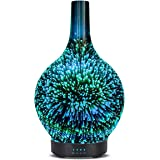 3D Aromatherapy Essential Oil Diffuser, Ultrasonic Cool Mist Oil Diffuser, Whisper Quiet Aromatherapy Diffusers with Time Setting and 7 Colors LED Lights Changing for Home Office Yoga SPA 100 ml (Starbust)