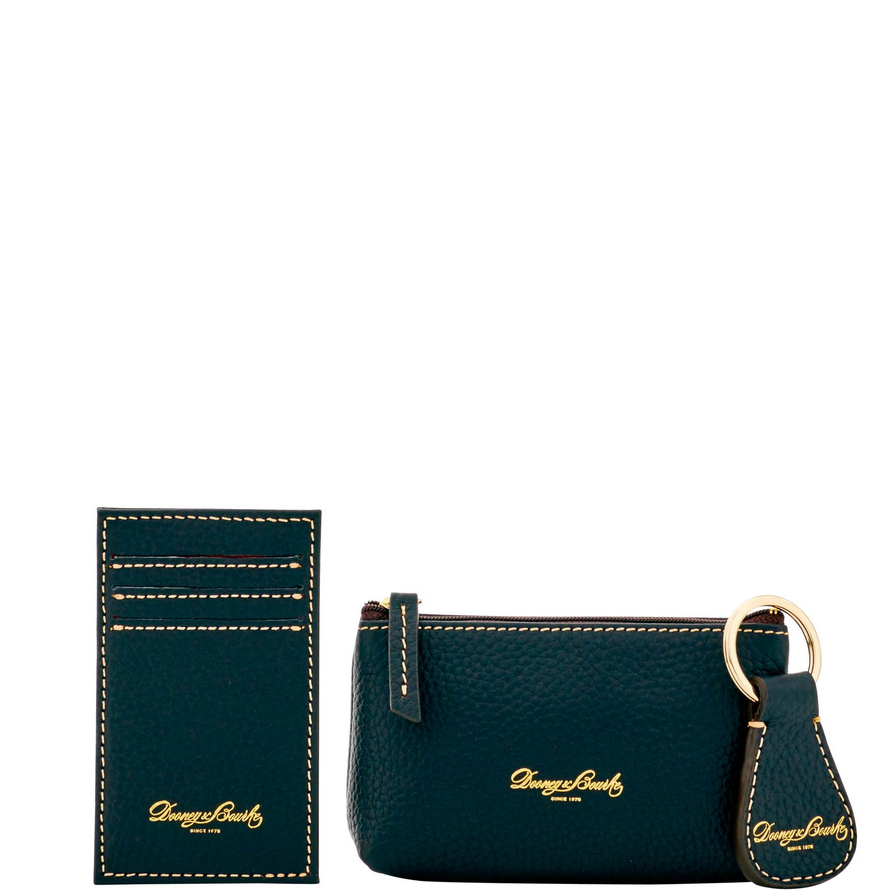 Dooney & Bourke Pebble Leather 3 piece Boxed gift set QL32A BB Black by Dooney & Bourke