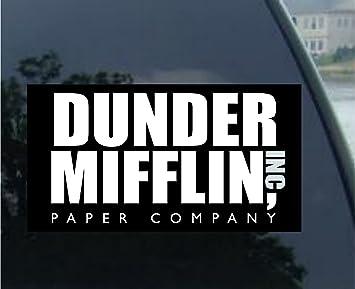 Amazoncom The Office Dunder Mifflin Company Vinyl Decal Bumper - Vinyl bumper stickers