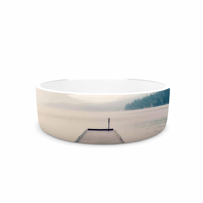KESS InHouse Robin Dickinson Tranquility bluee Green Pet Bowl, 4.75