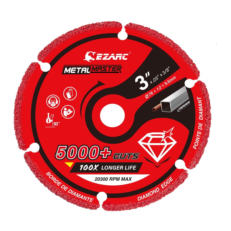 Hierro Fundido 75mm para Amoladora Angular Tubos y Perfiles de Metal Disco Corte para Hoja de Metal Hierro EZARC Disco de corte profesionales