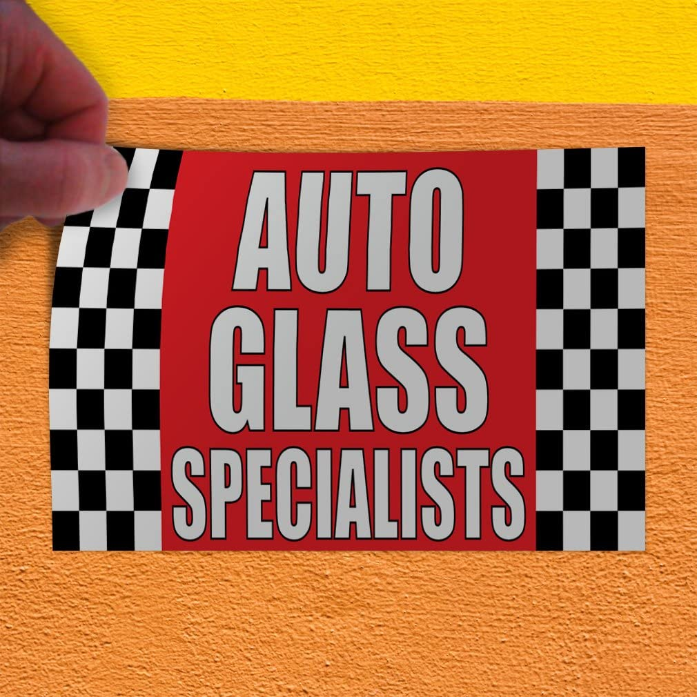 54inx36in Decal Sticker Multiple Sizes Auto Glass Specialists #1 Automotive Auto Outdoor Store Sign Red Set of 2