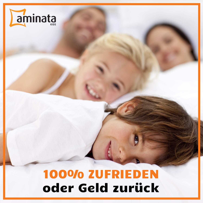 Teenager-Bettw/äsche Stern 100-/% Baumwolle wei/ß Jungen Marken-Rei/ßverschluss /& /Öko-Tex Fuchsia Aminata Kids Kinder-Bettw/äsche-Set Sterne 135-x-200-cm M/ädchen