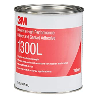 3M 1300L Yellow Neoprene High Performance Rubber and Gasket Adhesive -  021200199271