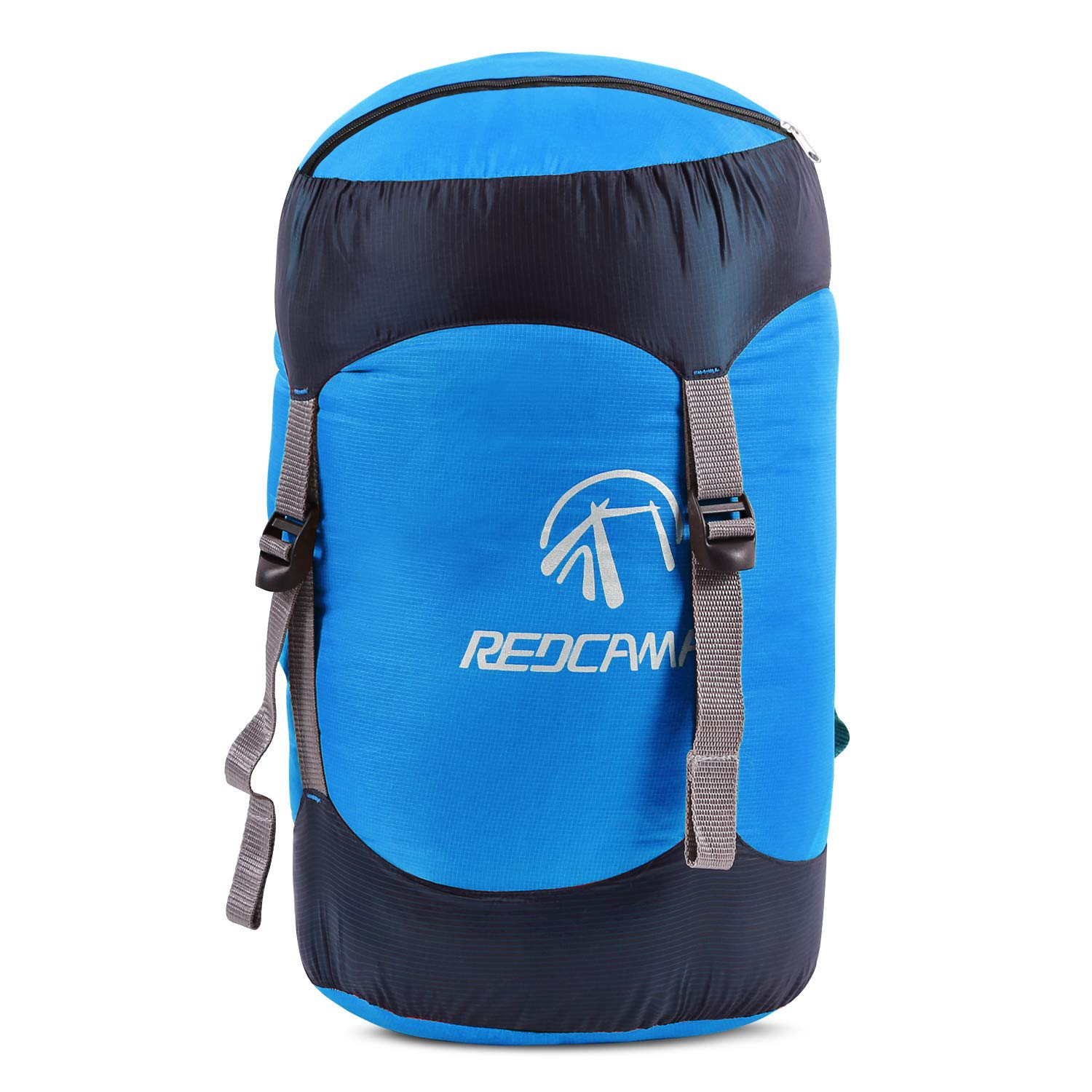REDCAMP Nylon Compression Stuff Sack, 6L/15L/25L/35L Lightweight Sleeping Bag Compression Sack Great for Backpacking, Hiking and Camping (Blue S) by REDCAMP