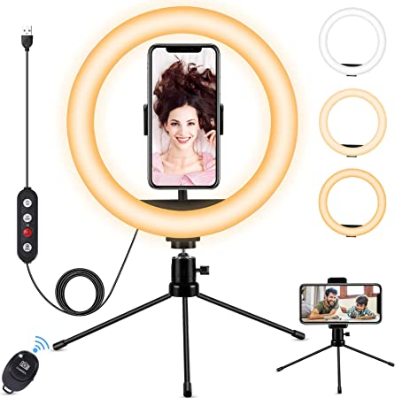 Ringlicht Fostoy Led Selfie Ringleuchte Stativ Mit Kamera