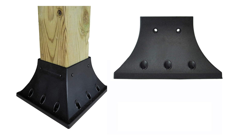 Excellent 4X4 Actual 3 5X3 5 Inches Pro Version Post Railing Flange For Deck Porch Handrail Railing Support 1 Each Customarchery Wood Chair Design Ideas Customarcherynet