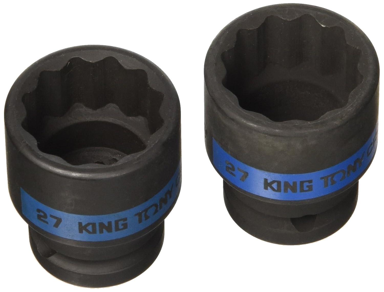 king tony 453027M Douille à Chocs Métrique 1/2' Standard, 27 mm