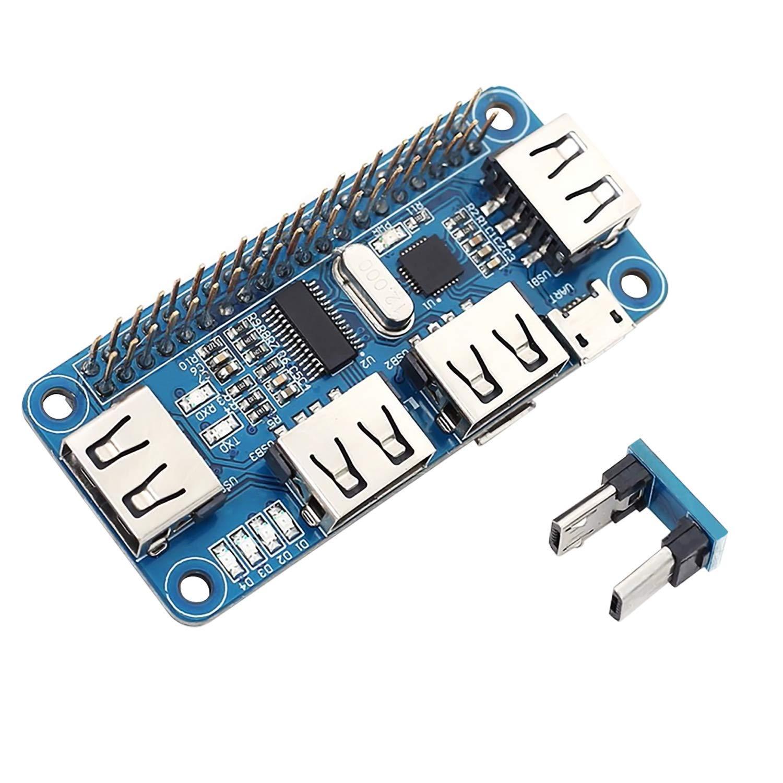 HiLetgo CP2102 USB to UART 4 USB Ports Raspberry Pi Expansion Board USB2.0//1.1 USB HUB for Raspberry Pi Zero//Zero W//3B//3B 5V