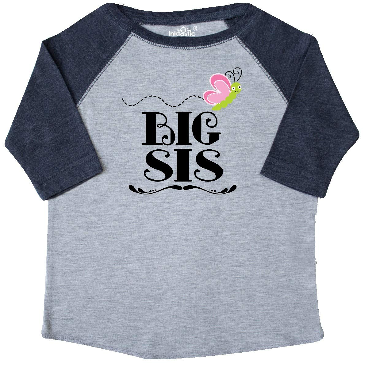 inktastic Big Sis Girl Butterfly Sister Toddler T-Shirt