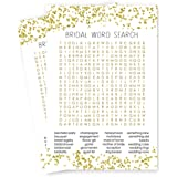 abstract bridal shower word search game cards black gold set of 25