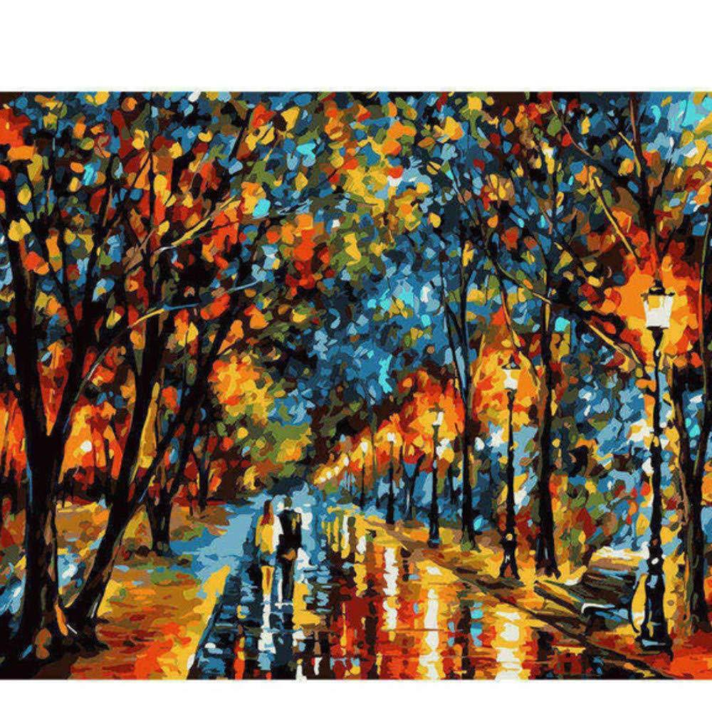 Yqgdss City Night Scene Malerei DIY Digital Scenery Malen Nach Zahlen Moderne Wandkunst Bild 40X50cm B07PLYJCRP | Hohe Qualität und günstig
