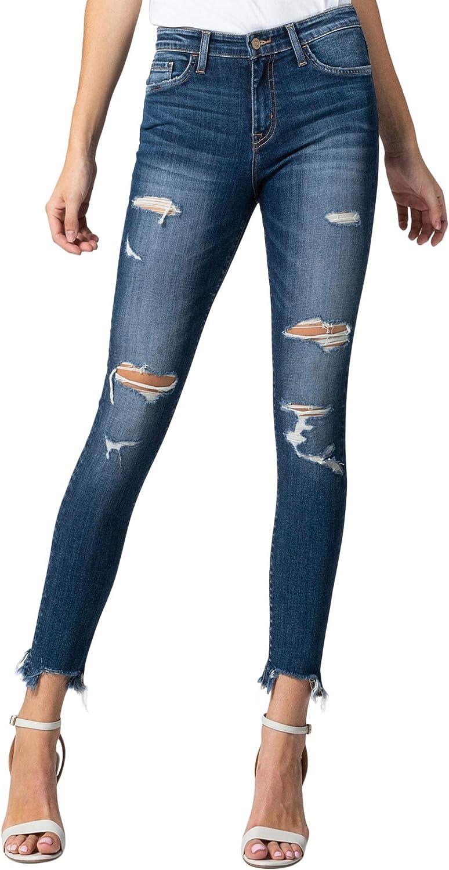Flying Monkey Women's Mid Rise Crop Skinny Jeans