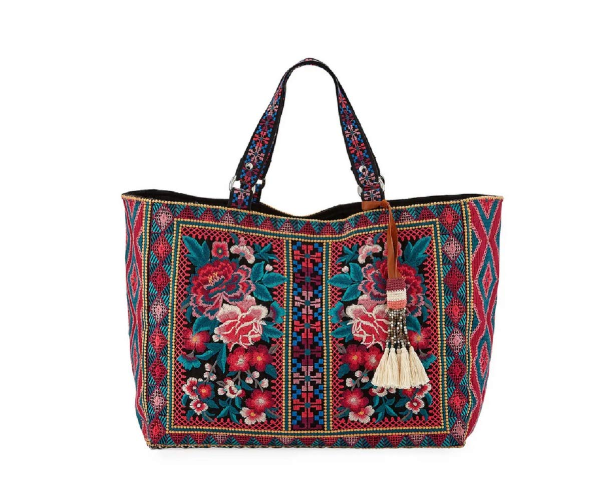 Johnny Was Annaliese Embroidered Tote Bag - J03819 (Black)