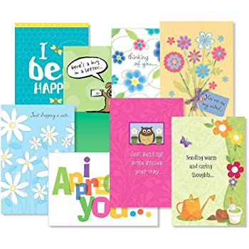 Amazon dayspring encouragement greeting card with embossed thinking of you greeting cards value pack set of 16 8 designs large 5 x 7 cards sentiments inside friendship cards m4hsunfo