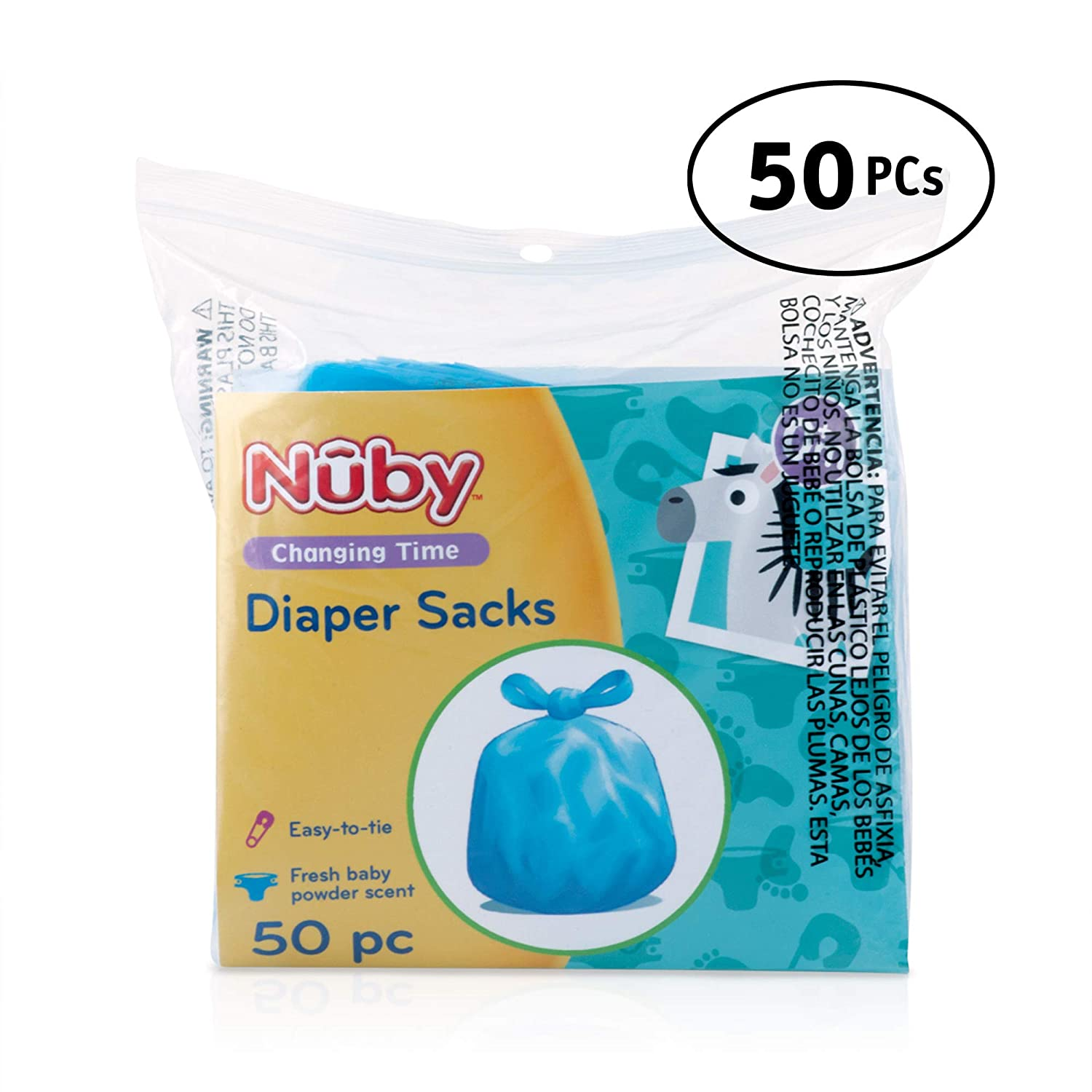 Nuby 50-Piece Diaper Sacks