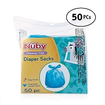 Amazon.com: Nuby bolsas de pañales, Paquete de 50: Baby