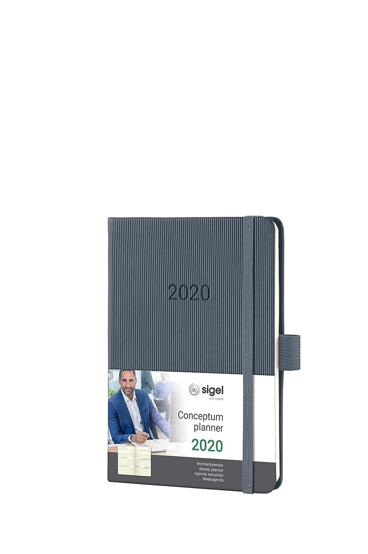 SIGEL C2066 Agenda semanal 2020 Conceptum, tapa dura, 10,8 x ...