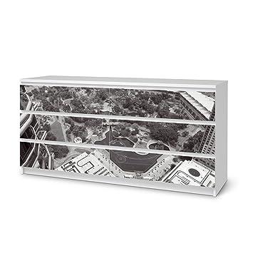 Designfolie Für IKEA Malm 6 Schubladen (breit) | Möbelfolie Klebefolie  Sticker Aufkleber Möbel Verschönern