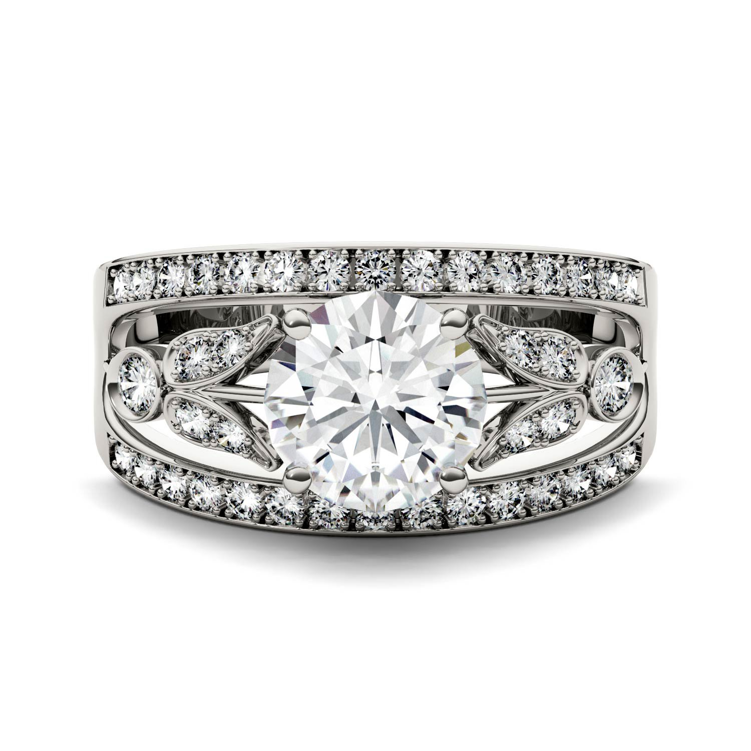 Forever Brilliant Round 7.5mm Moissanite Ring-size 7, 1.91cttw DEW By Charles & Colvard by Charles & Colvard (Image #4)