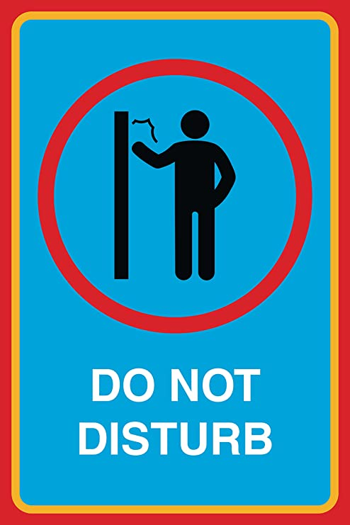photograph about Printable Do Not Disturb Signs called Do Not Disturb Print No Knocking Upon Doorway Gentleman Think about Interest Business office Business office Indicator