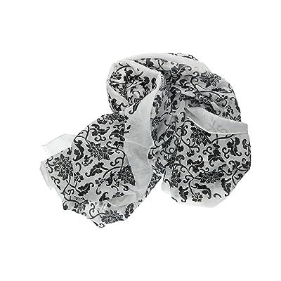 écharpe femme ROMEO GIGLI noir pashmina fantaisie florale VL294