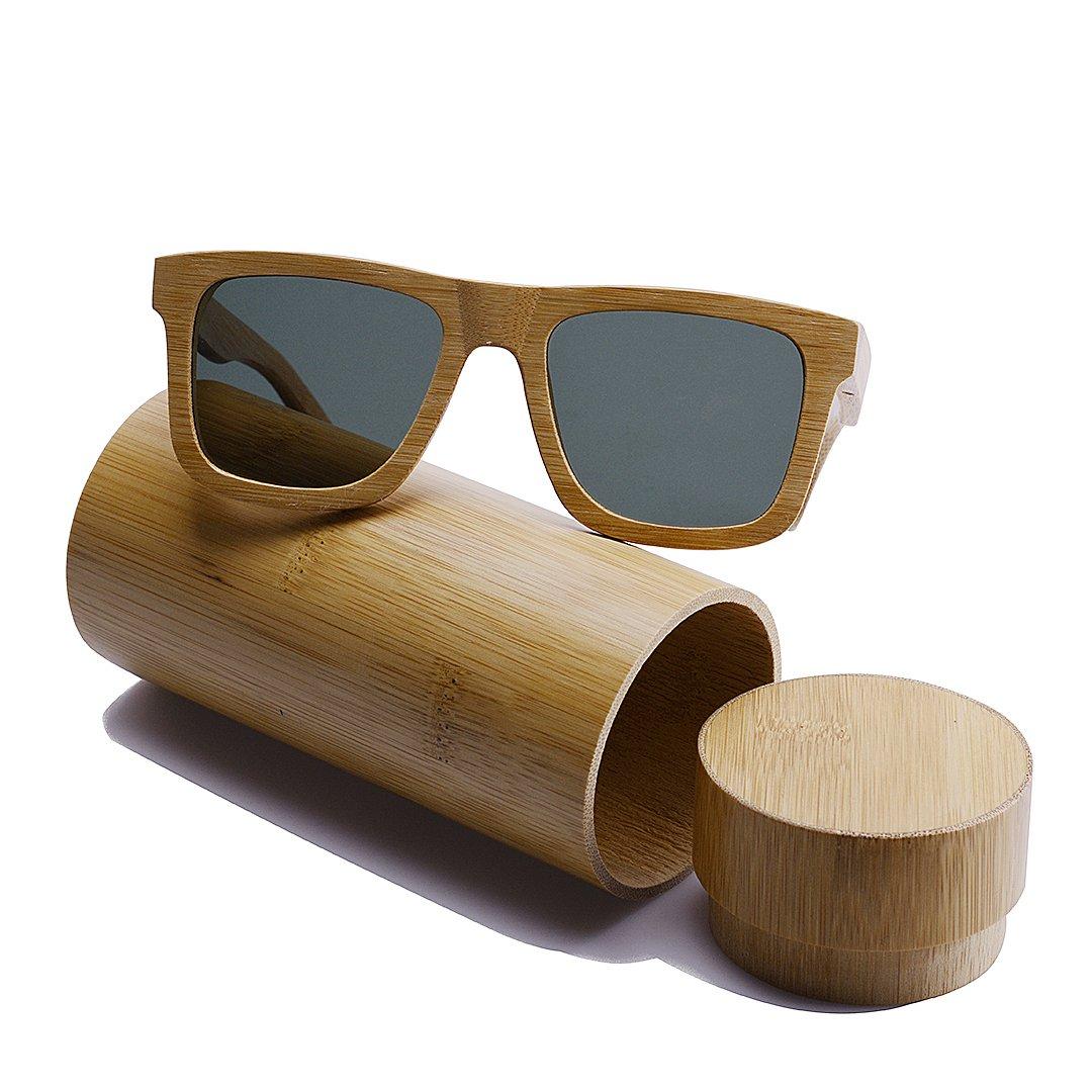 7126dc707afe08 BEWELL Lunettes de Soleil Bois Homme polaris é lens eyewear avec Bois de  monture Casual ...