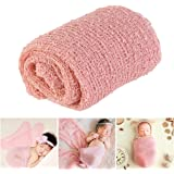 Tinksky Newborn Photography Cute Baby Pictures Prop Newborn Photography Props Wrap (Pink)