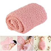 Tinksky Long Ripple Wrap, DIY Newborn Baby Photography Wrap-BAby Photo Props Favors (Snow tooth-colored)
