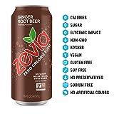 Zevia Ginger Root Beer, 16 Fl Oz, Pack of 12
