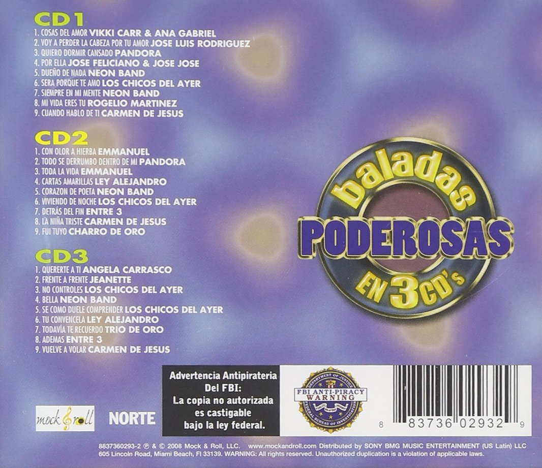 Various - Baladas Poderosas En 3 CDs - Amazon.com Music