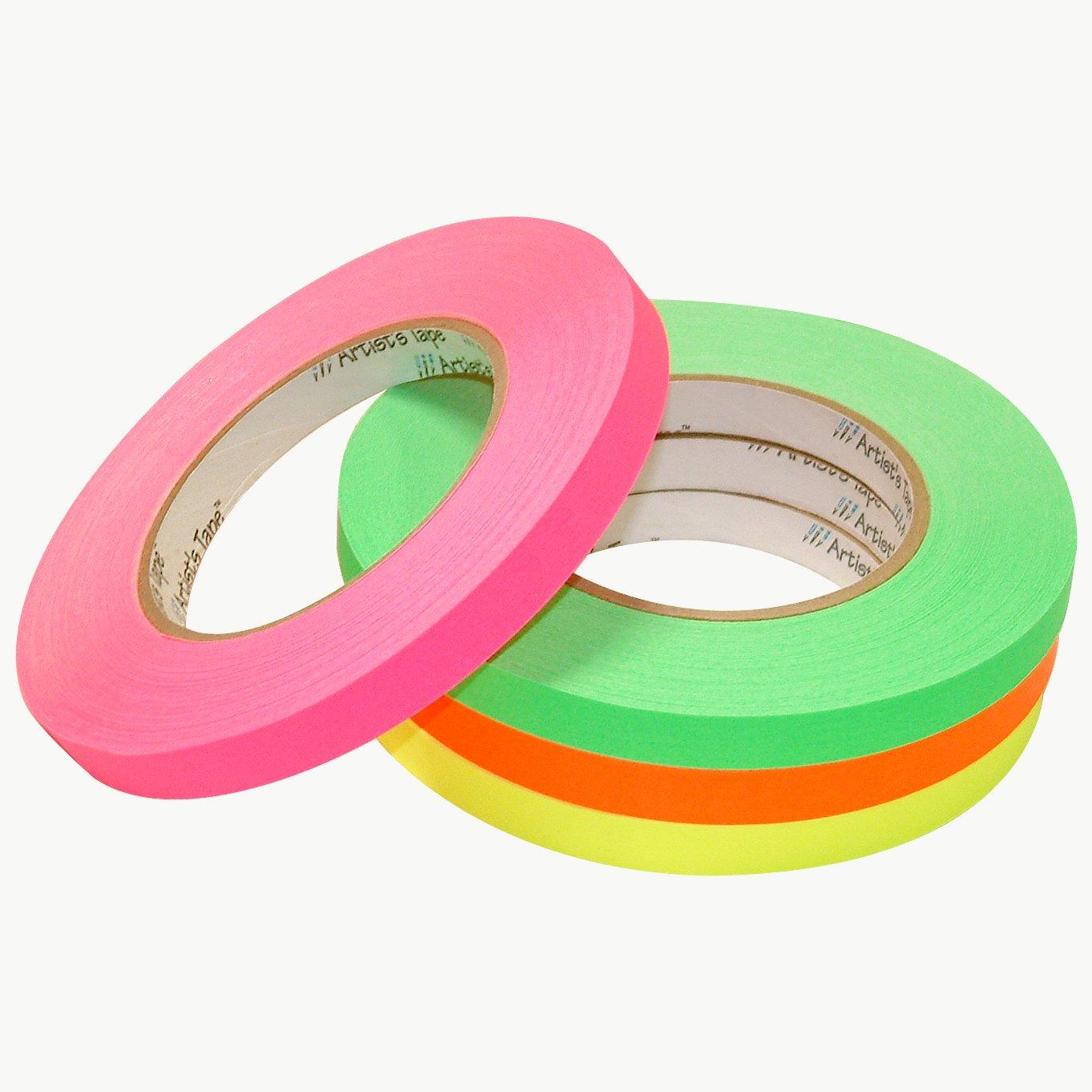 Pro Tapes 15414 Artist Tape Fluorescent Green 1'', Fluorescent green