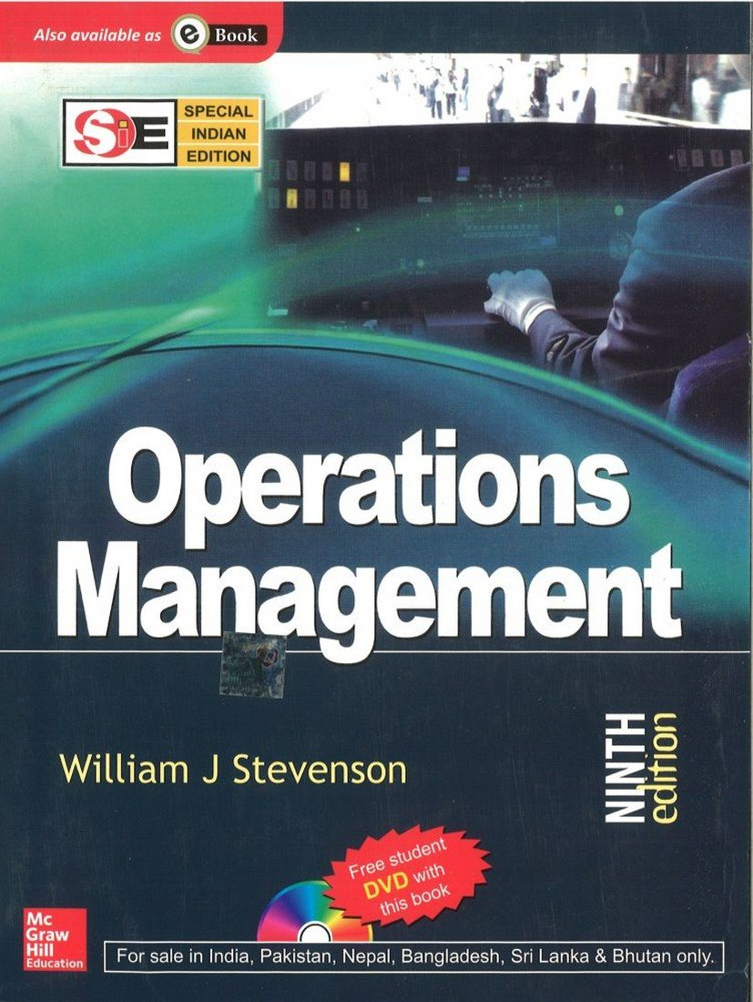 Operations Management With Student DVD (Special Indian Edition): William J  Stevenson: 9780070668218: Amazon.com: Books
