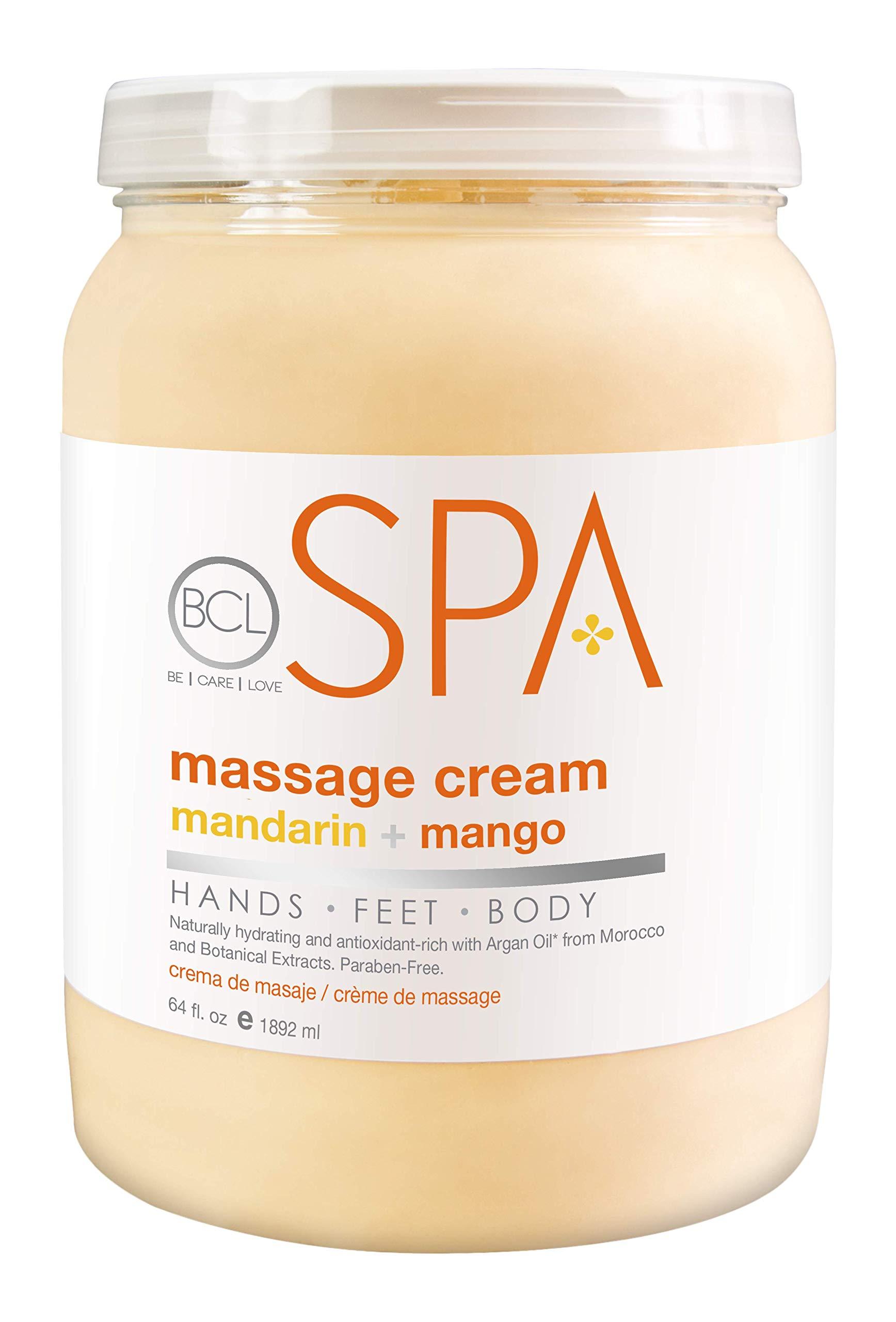 Bio Creative Lab BCL Spa Massage Cream, Mandarin and Mango, 64 Ounce