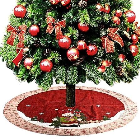 ZHAOLV 120 cm de Lino árbol de Navidad Falda Delantal Accesorios ...