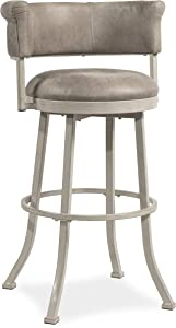 Hillsdale Westport Swivel Counter Height Stool, Dark Brush Ivory