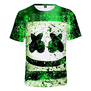 8c819120b Amazon.com: Marshmello Costume Tee for Music Festival Party Fashion Short  Sleeve Marshmallow T-Shirts: Clothing
